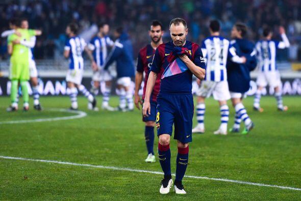 La frustración afectó al Barcelona que con el avance de los minutos term...