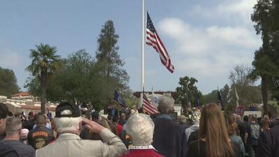 Masiva presencia en homenajes durante conmemoración del Memorial Day en Los Ángeles
