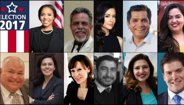 Candidatos al Distrito 34.