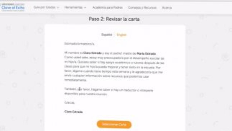 Puedes enviar cartas en español, en inglés y hasta pedir un intérprete p...