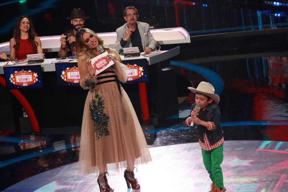Gali se robó el show con los pequeños