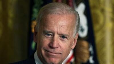 El vicepresidente Joe Biden dijo sentirse cómodo con el matrimonio entre...
