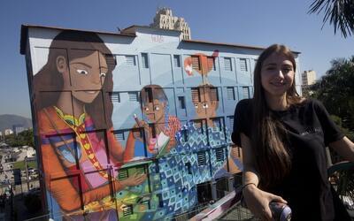 Una artista de 19 años quiere romper el récord mundial con el graffiti m...
