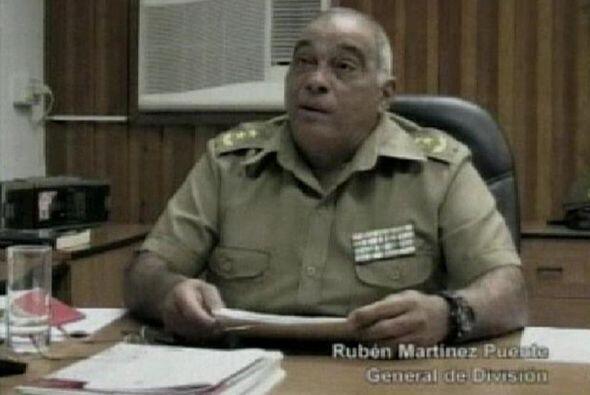 Los militares encausados son:  General de División Rubén Martínez Puente...