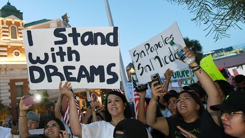 Una manifestación a favor de beneficiarios de DACA en Nevada.