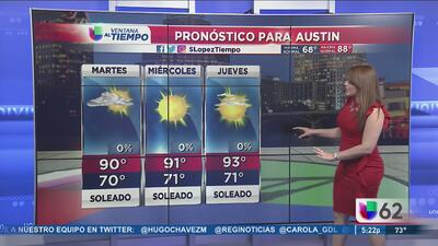 Cielo parcialmente nublado en Austin