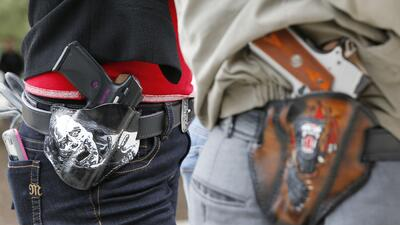 Activistas pro-armas en Austin, Texas