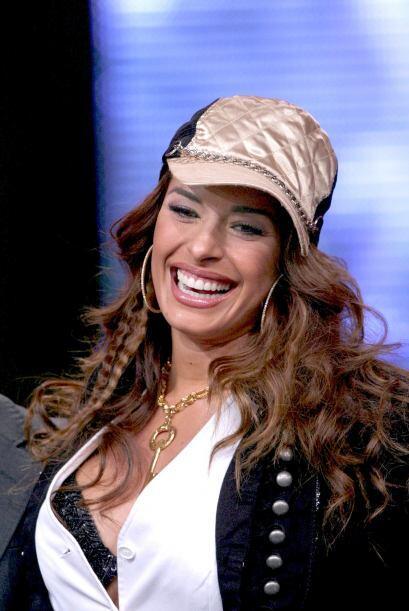 """Con este look se hizo conductora del show """"Vida TV"""" en el 2001."""