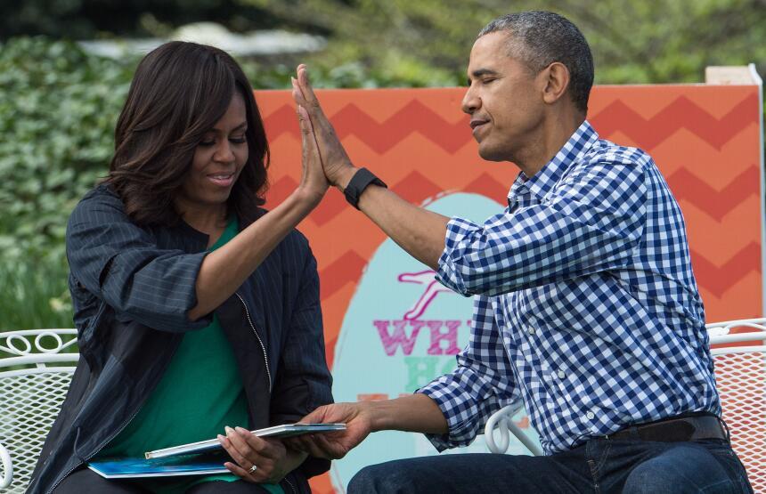Michelle y Barack Obama: los amantes de la Casa Blanca GettyImages-51788...