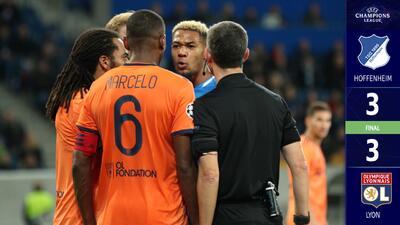 Hoffenheim dejó vivir al Lyon y se esfuman sus esperanzas en la Champions