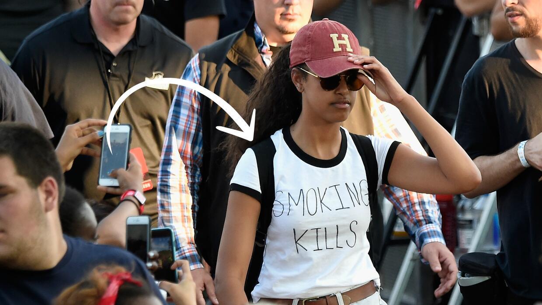 Así lució Malia Obama durante un festival de música en Filadelfia.