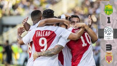 El Mónaco de Radamel Falcao debutó en la liga con victoria