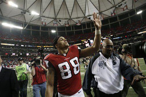 Tony González, ala cerrada de los Atlanta Falcons (AP-NFL)