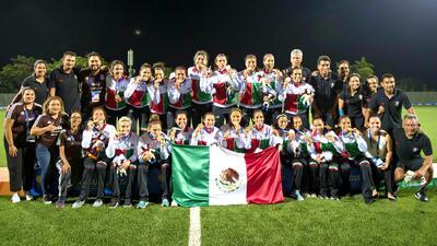 ¡Llegaron las bicampeonas! México arribó a la capital tras ganar el oro en Barranquilla 2018