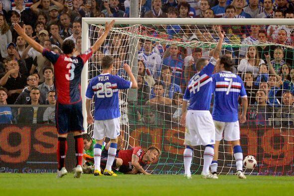 Antonio Floro Flores abrió el marcador para el Génova segundos antes de...