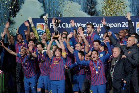 Esta imagen se volvió recurrente para los catalanes con la Champions y l...