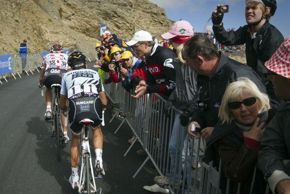 El campeón defensor, el español Alberto Contador quedó distanciado respe...