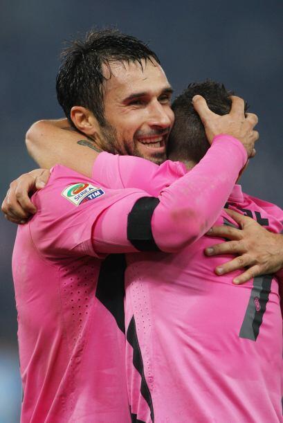 Ganó como visitante a la Lazio en el Estadio Olímpico de R...