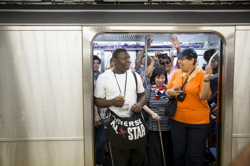 En los trenes de NYC no cabe ni un alfiler