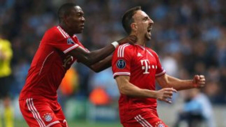 El francés Ribery abrió el marcador desde los primeros minutos de un par...
