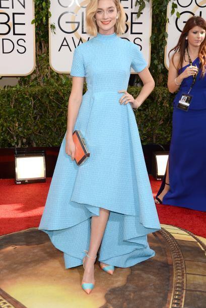 La estructura del vestido de Caitlin Fitzgerald fue de los más horrible...