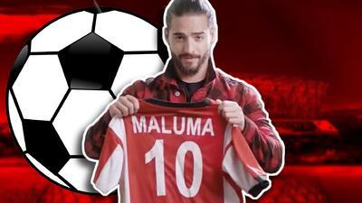 Como niño con juguete nuevo: Maluma entrena emocionado para su 'debut' en el Mundial de fútbol