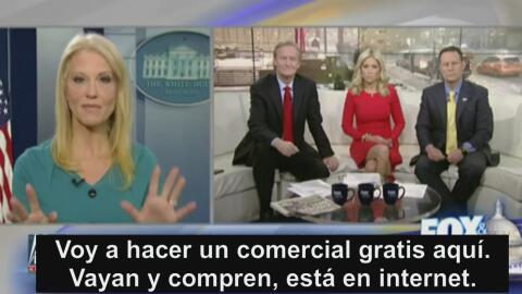 """Este es el """"comercial gratuito"""" que hizo Kellyanne Conway a Ivanka Trump"""