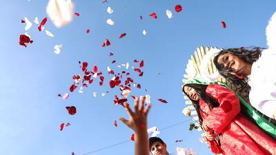 Así fue la procesión en honor a la Virgen de Guadalupe en Los Ángeles