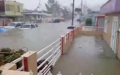 El usuario de Facebook 'The Rican' publicó un video con las inund...