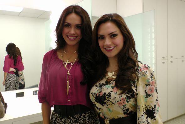 Dos reinas de belleza: con Michelle Galván de Noticias 45... ¡Así de bel...