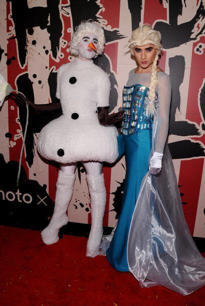 Frozen no podía faltar en la fiesta, en esta ocasión fueron  Jesús y Ant...