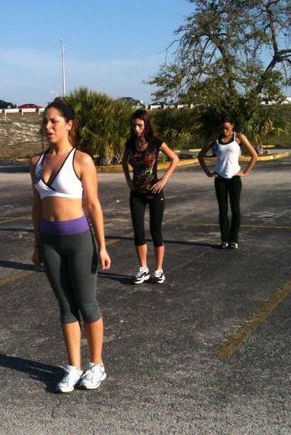 En esta oportunidad, las chicas hicieron ejercicio al aire libre.