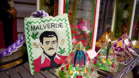 Un amuleto de Jesús Malverde.