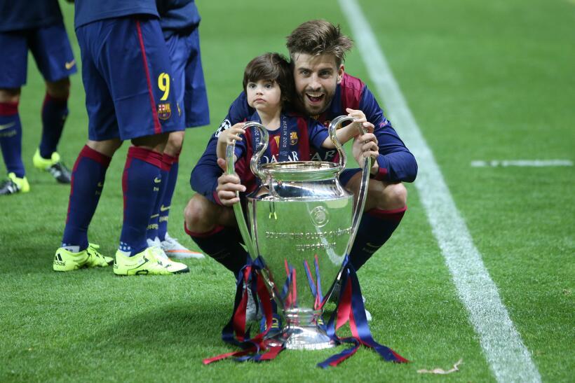 Futbolistas y sus hijos
