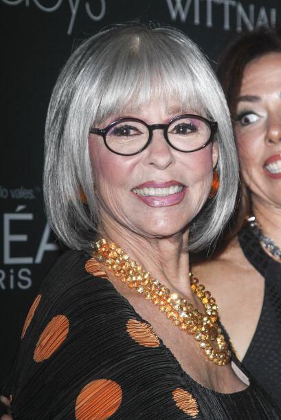Otra de las grandes invitadas de la noche fue Rita Moreno, quien no paró...