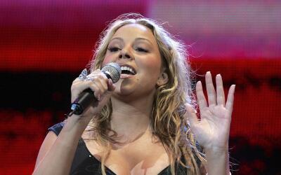 Mariah Carey actúa en 'Live 8 London' en Hyde Park el 2 de julio...