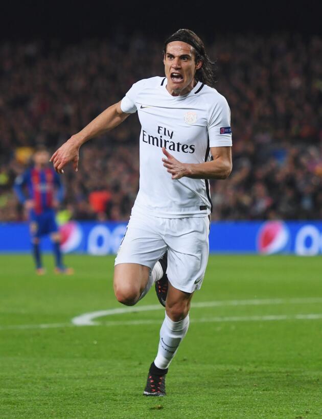4. Edinson Cavani (Paris Saint-Germain) - Una asistencia y 27 goles tien...