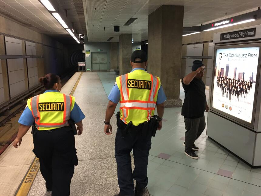 La Línea Roja del metro, que cruza por Hollywood, es la más usadas por l...