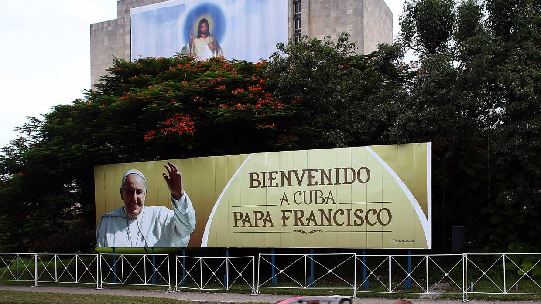 En espera del Papa Francisco en Cuba