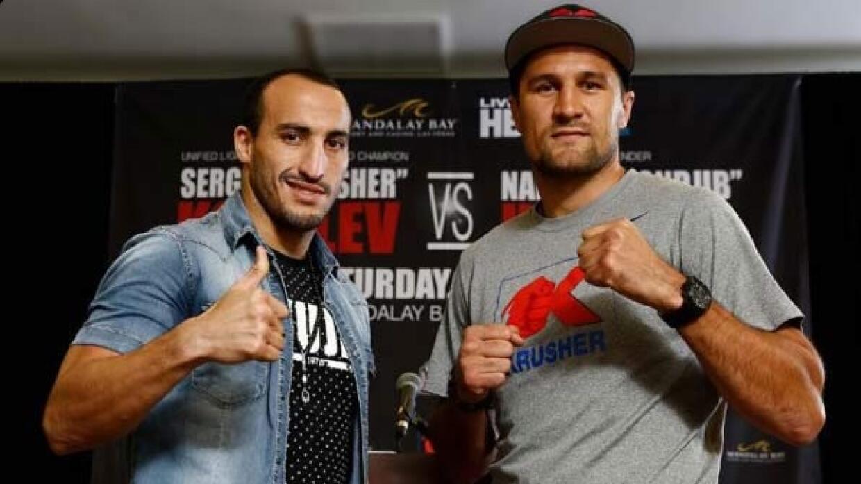 Mohammed y Kovalev cara a cara.