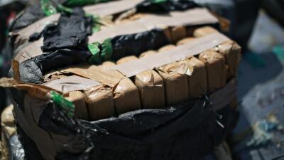 Cargamento de droga decomisado en California.
