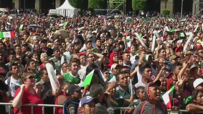 El Zócalo se vistió de fiesta para palpitar el histórico triunfo de México sobre Alemania