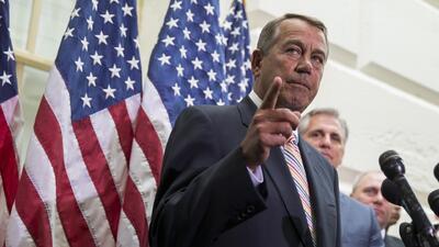 Boehner pide a Obama cumplir condiciones antes de aprobar recursos para...