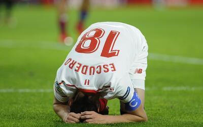 Escudero se lamenta una de las opciones que dejó ir el Sevilla.
