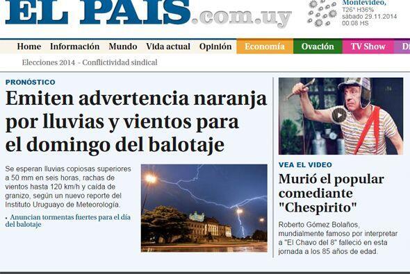 El País de Uruguay lo publicó como una de sus notas principales.