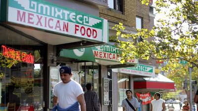 El distrito hispano en el barrio de Adams Morgan, en Washington DC.