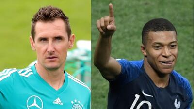 Klose ve en Mbappé al jugador que superará su marca de goles mundialistas