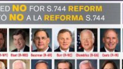 Los representantes que votaron en contra de la reforma migratoria.