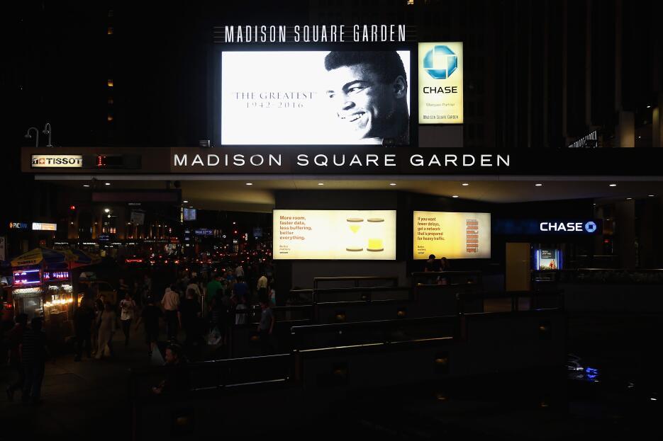 Su imagen en el lugar donde peleó ocho veces, el Madison Square Garden.