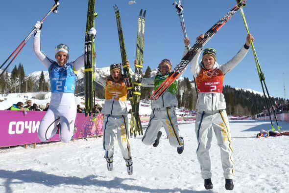 La prueba de relevos de 4x5 kilómetros de esquí de fondo, también se las...